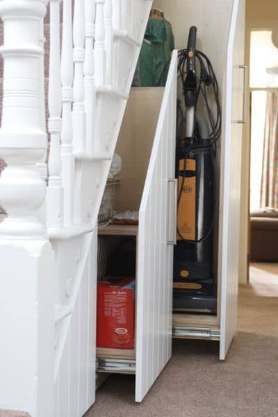 4. Easier access to home cleaning equipment storage