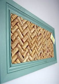 1. USE A FRAME AND CHEVRON PATTERNED WINE CORKS