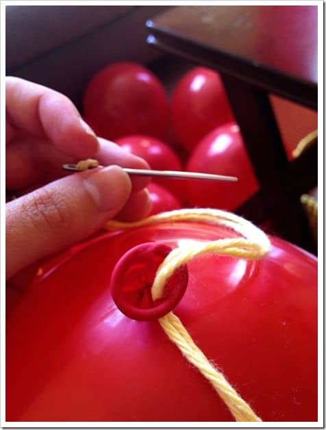 3. USE A SIMPLE STRING TO CREATE BALLOON GARLAND