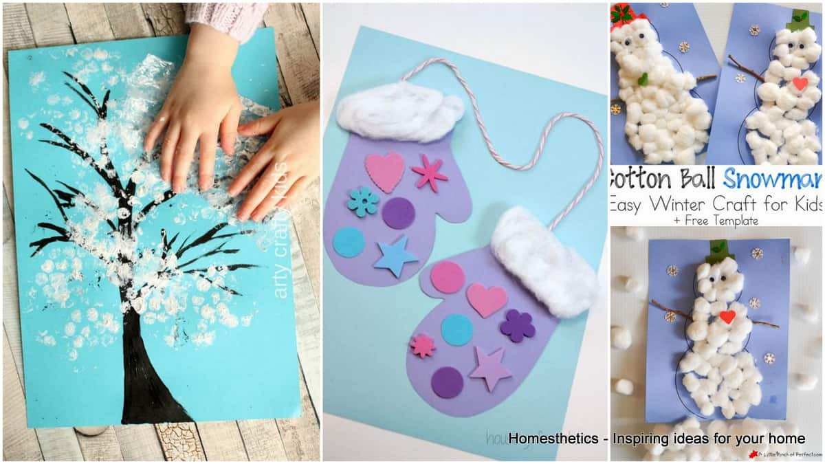 17 Boredom Buster Winter Crafts For Toddlers Homesthetics