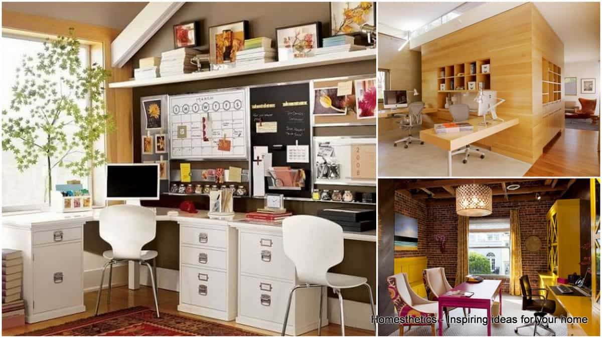 Charming 30 Brilliantly Beautiful Shared Home Office Ideas For Your Household