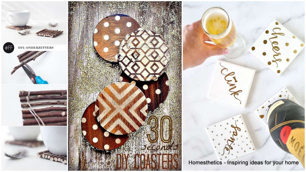 21 Sensational DIY Coasters For Parties or Simple Intimate Moments ...