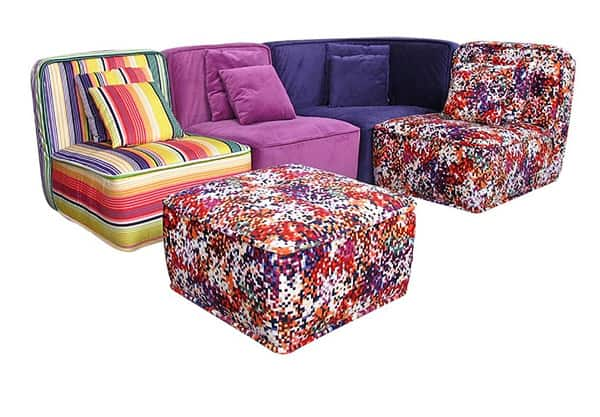 3. MODULAR floor SOFA EMPHASIZING WITH COLOR AND PATTERN