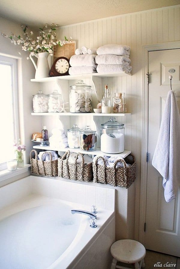 Perfect Exposed Storage Space Can BECOME Charming When Jars And WICKER Baskets Are  Used