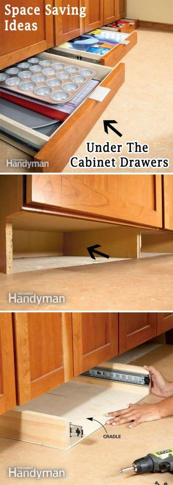 107. ADD MORE STORAGE SPACE ON YOUR CABINET