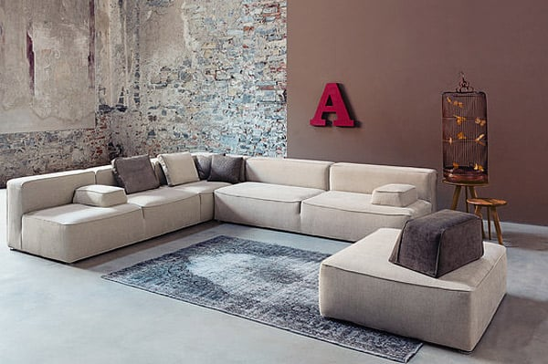 High Quality 23. Beautiful Neutral Glam 257 Floor Sofa