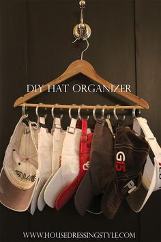 14. EASY HAT STORAGE IDEA YOU CAN DO ON YOUR OWN