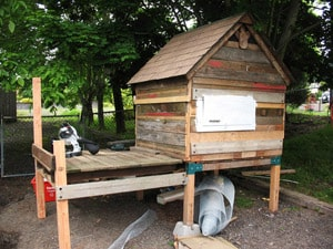 HOMEMADE EXTRAORDINARY CHICKEN COOP