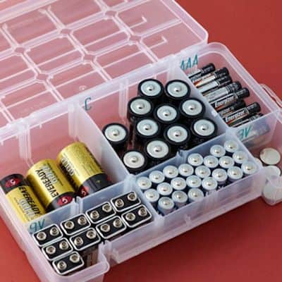 17. BATTERY STORAGE WITH PILL BOXES