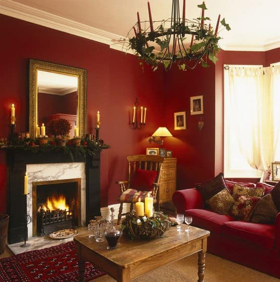 Red Ornaments For Living Room: 53 Bold Red Accent Walls To Beautify Your Home