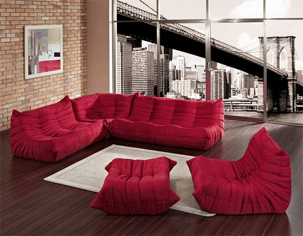Sculptural Waverunner Floor Level Sofa Modules