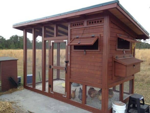 CHICKEN COOP PALACE IN WOOD