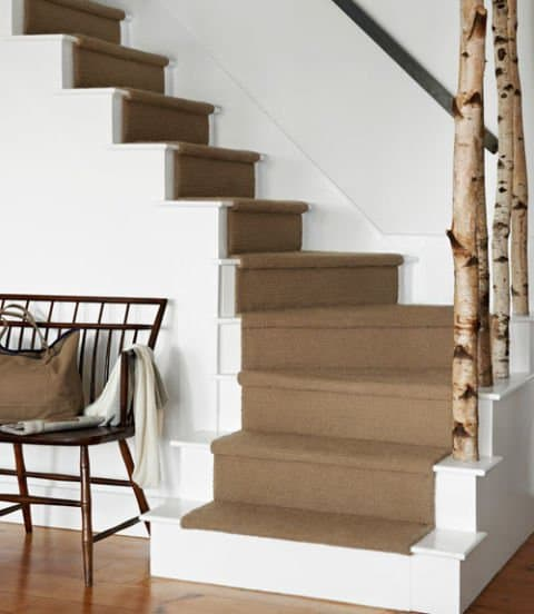 If We Are Talking About A Two Story Home, You Can Define The Staircase Zone  Using A Room Divider Made From Tree Logs. Notice Haw The Wood Contrasts The  Rest ...