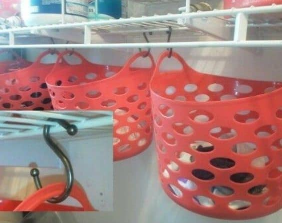 31. HOOKED BASKETS ON LAUNDRY AREA