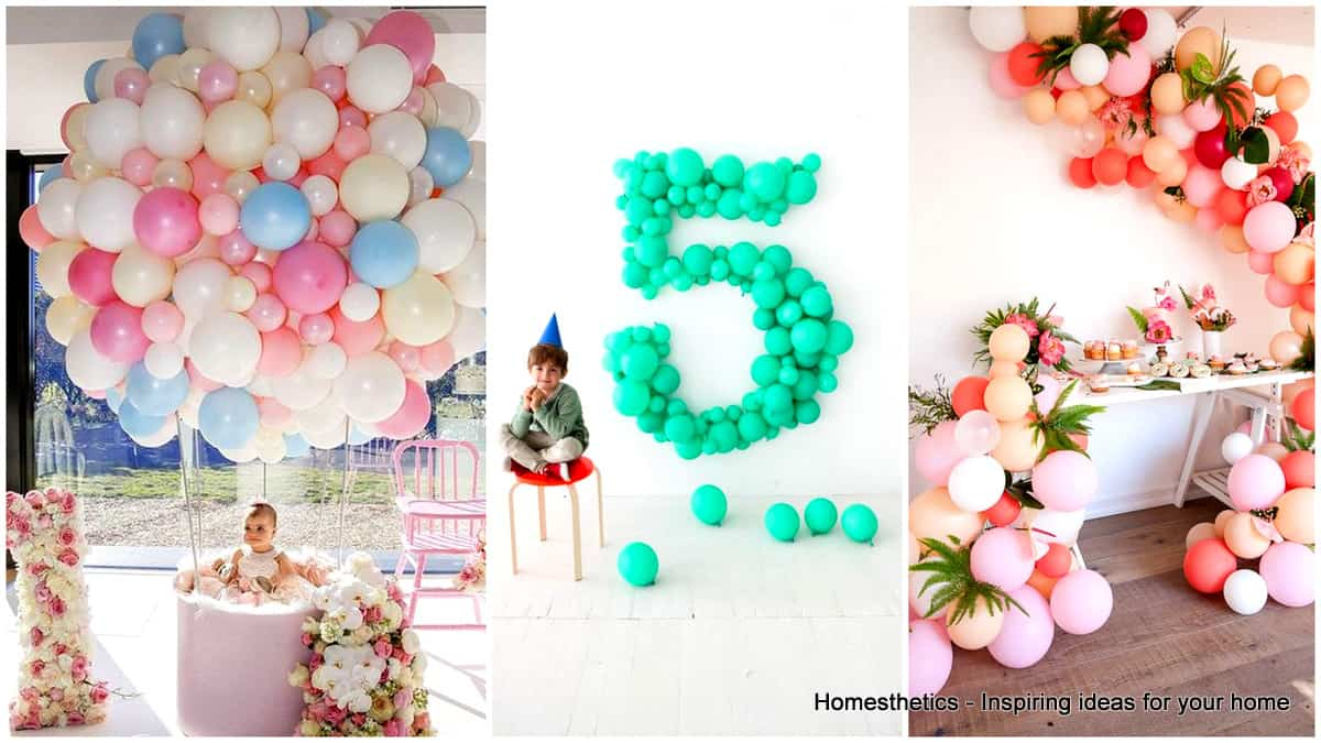 35 simply splendid diy balloon decorations for your for Party decorations to make at home