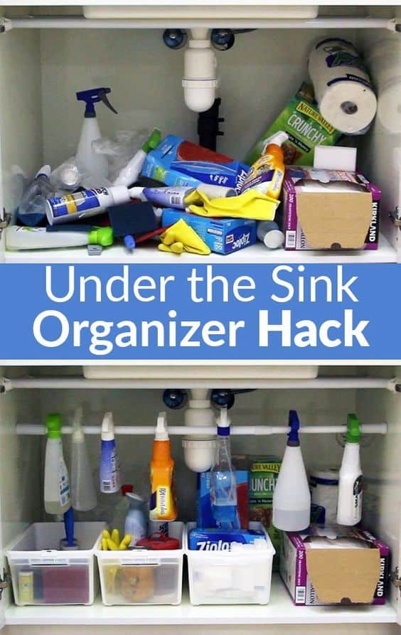 35. HOW TO ORGANIZE STUFF UNDER THE SINK