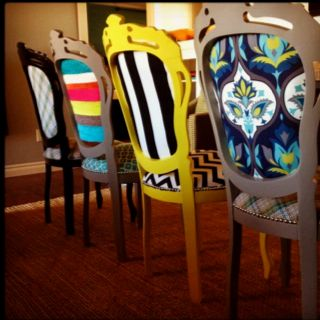 13. DIVERSITY IN TEXTILES dinning chairs