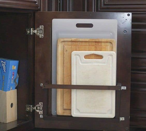 4. A SIMPLE STORAGE IDEA FOR CUTTING BOARDS