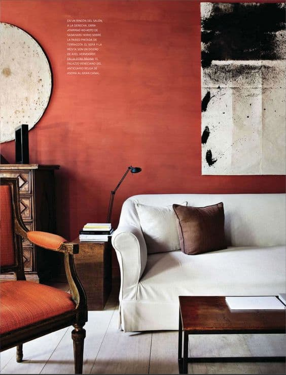 RED ACCENT WALL IN THE LIVING ROOM Part 97