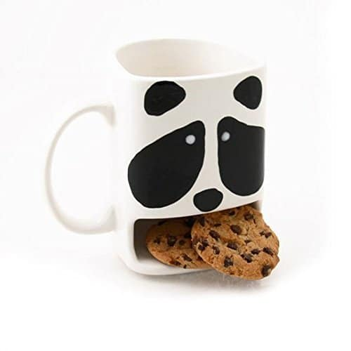 19. SERVE AN ADORABLE PANDA WITH COOKIES AND COFFEE