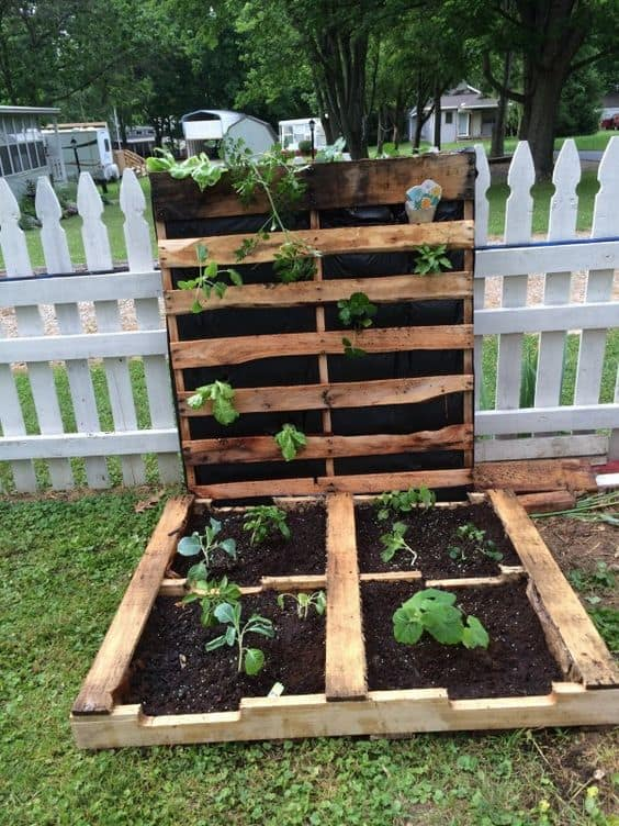 Merveilleux 42. Simple Pallet Garden For First Timers
