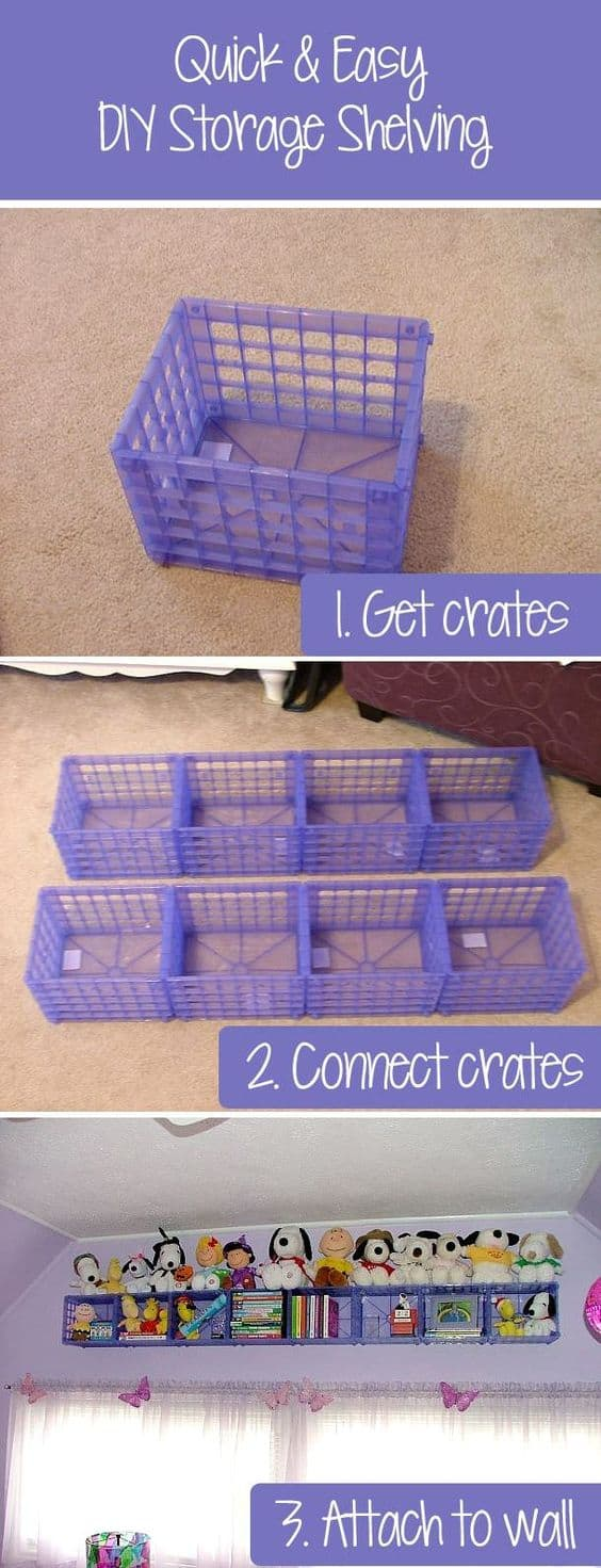 43. EASY AND CHEAP DIY STORAGE SHELVING