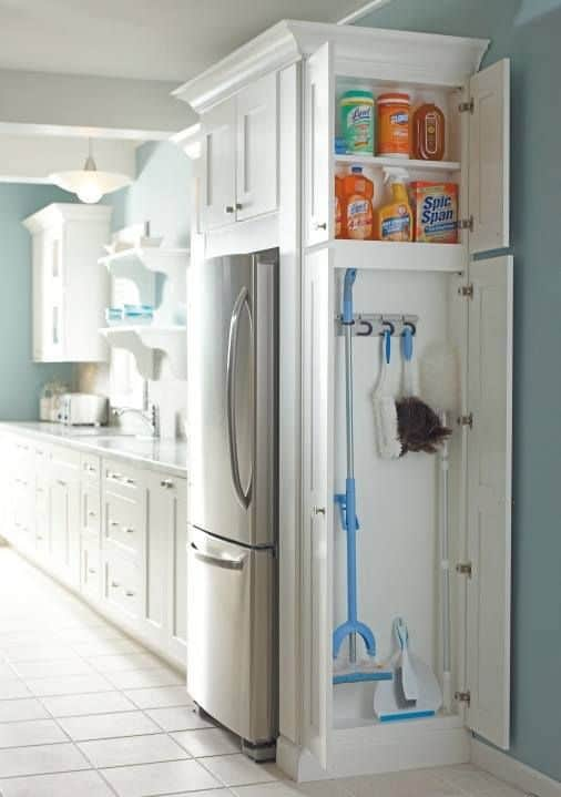 45. CABINET SPACE FOR CLEANING TOOLS