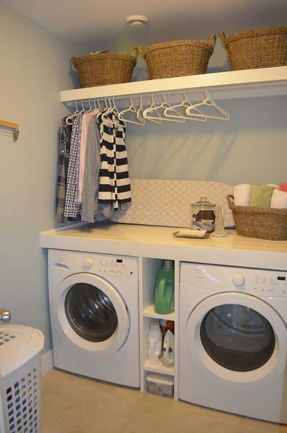 46. STORAGE IDEA FOR A SMALL LAUNDRY SPACE