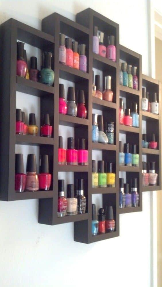 49. A SHELF FOR NAIL POLISHES OR BEAUTY PRODUCTS