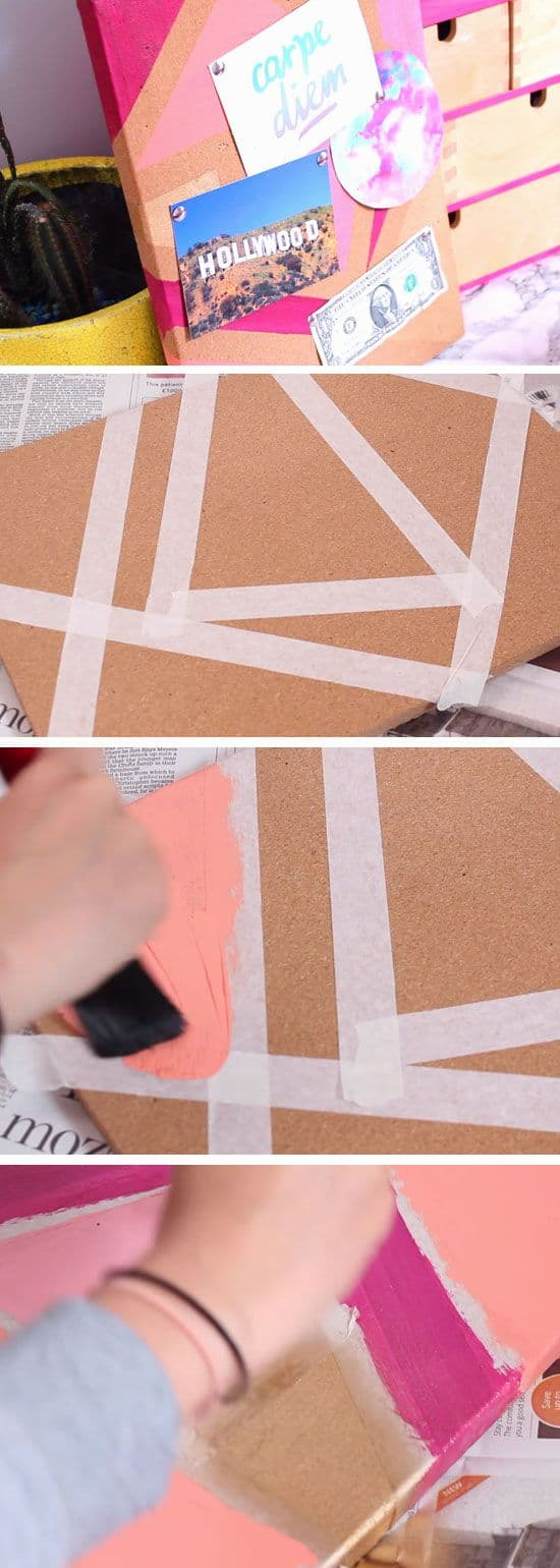 15. GEOMETRIC SPRAY PAINT WITH SIMPLE TAPE