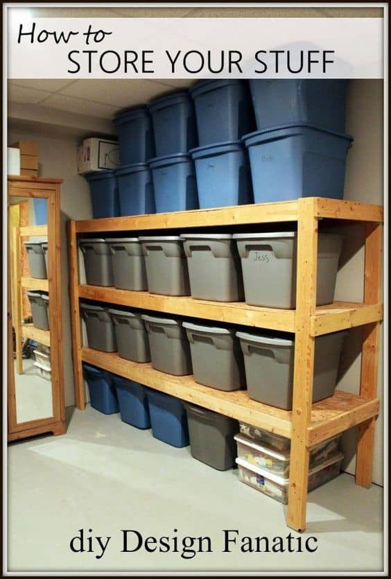 5. PLASTIC STORAGE CONTAINERS FOR THE GARAGE