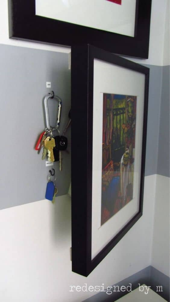 51. HIDDEN STORAGE IDEA FOR YOUR KEYS