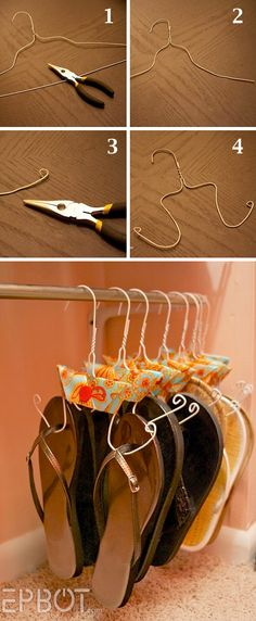 53. RECYCLED HANGERS FOR SLIPPERS AND SANDALS