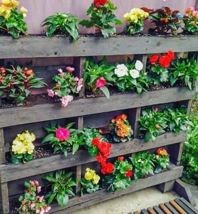 World 39 s best 111 pallet garden ideas to collect for Vertical pallet garden