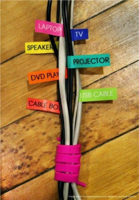 56. STORING THE CORDS AND LABELING THEM