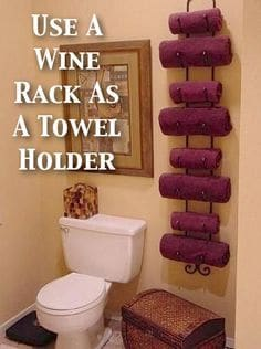 59. USING A WINE RACK IN THE BATHROOM