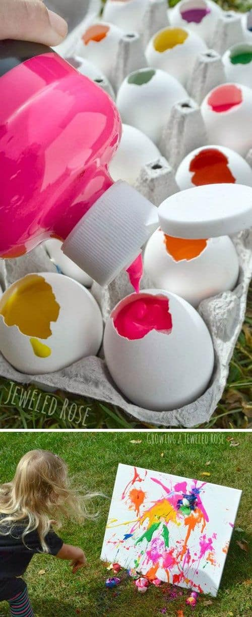 111 cute and easy crafts for kids that parents can help with 62 throw some eggs create some art solutioingenieria Gallery