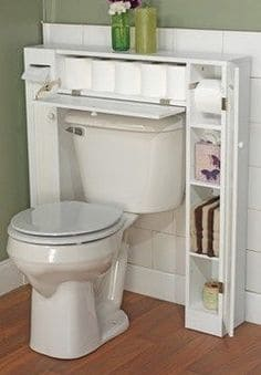 62. OVER THE TOILET SHELVING FOR BATHROOM NECESSITIES