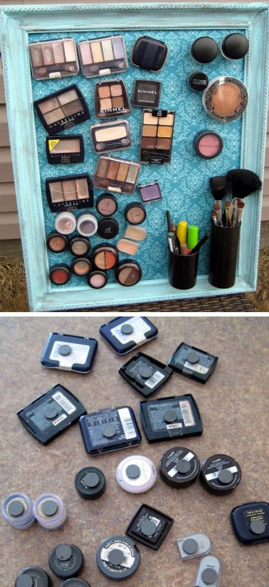 69. EASY MAKEUP STORAGE HACK
