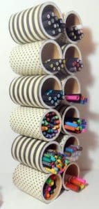 74. STATIONERY ORGANIZER - CANS FOR MARKERS