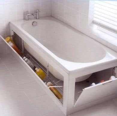 79. CREATIVE BATHTUB STORAGE AREA