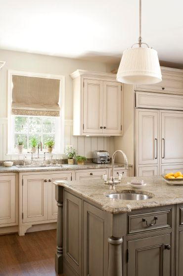 Trend  cream and Coventry gray cabinets perfect for a classic look