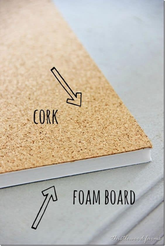 20. DOUBLE A THIN CORK SHEET WITH FOAM BOARD