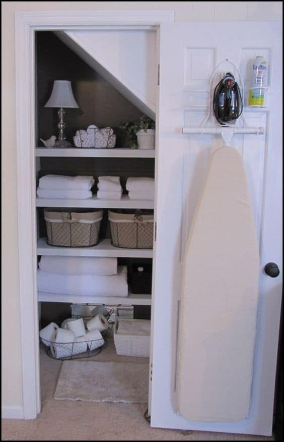 80. ORGANIZING LINENS AND THE IRONING BOARD