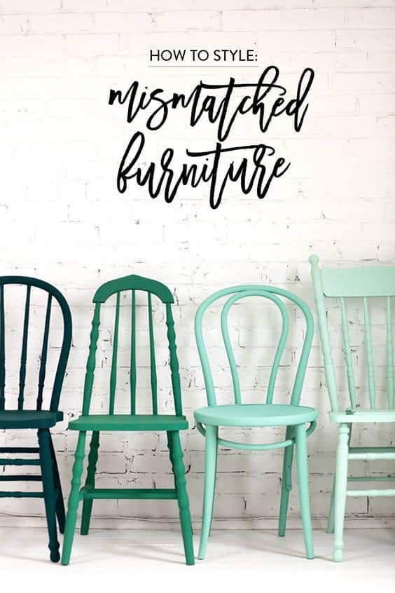 16. GRADIENT COLORS missmatched dinning chairs