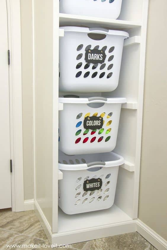 82. LAUNDRY AREA ORGANIZING HACK