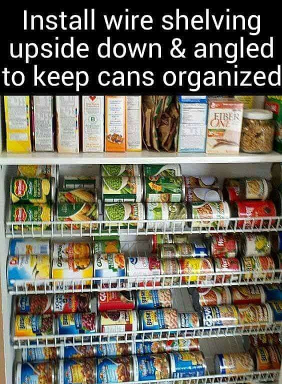 85. PANTRY STORAGE HACK FOR CANNED GOODS