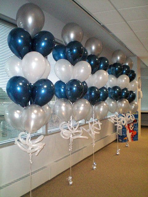 35 simply splendid diy balloon decorations for your for Balloon nets for centerpieces