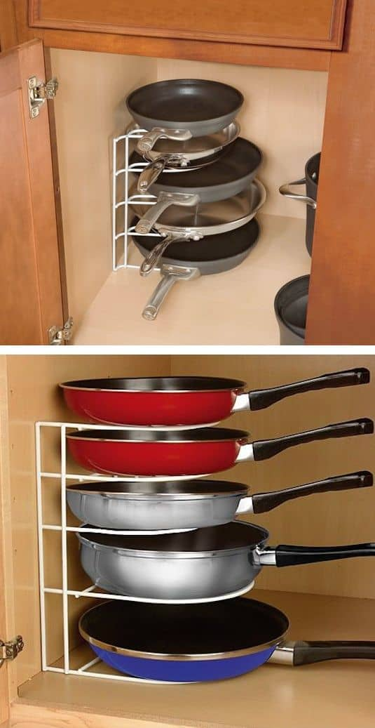 89. PAN RACK TO SAVE SPACE IN THE KITCHEN