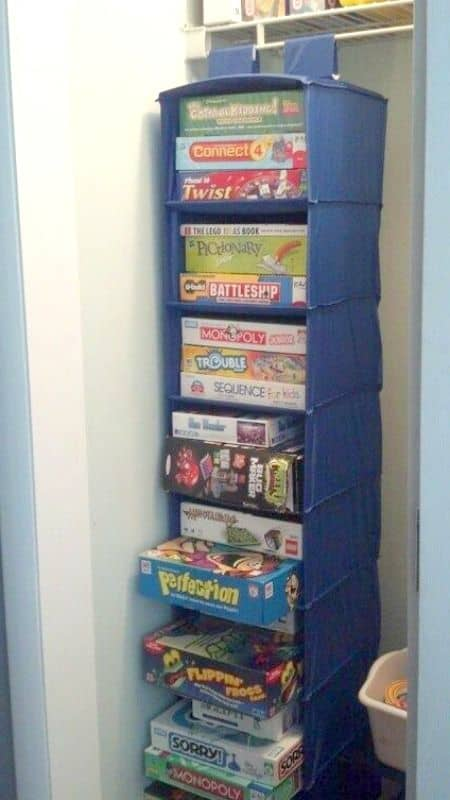 9. FOLDABLE CLOSET FOR BOARD GAME STORAGE